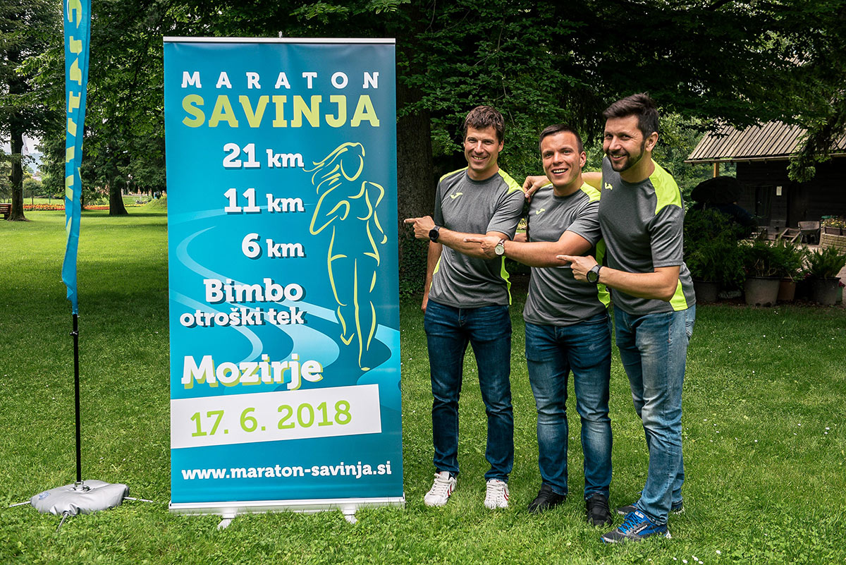 Maraton Savinja - organizatorji Jaka Zajšek, Nejc Lamut in Roman Čretnik